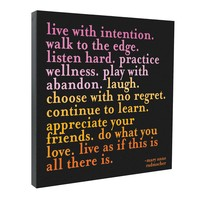 Live With Intention Canvas