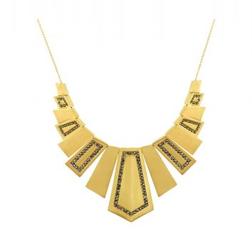 House of Harlow 1960 Jewelry Spire Deco Necklace Gold