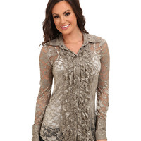 Stetson 9325 Taupe Stretch Lace Top