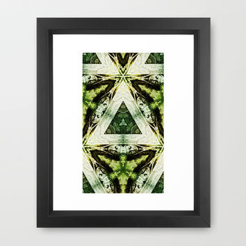 Textured Masquerade  Framed Art Print by Louisa Catharine Design