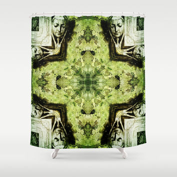 Textured Masquerade  Shower Curtain by Louisa Catharine Design