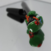 Red Eye Tree Frog Polymer Clay Pen