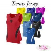 Monogrammed Tennis Jersey in 10 Bright Colors and Team Pricing at The Pink Monogram