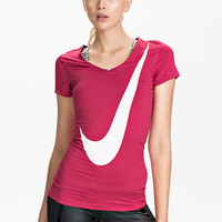 Nike Pro Logo Grx Ss Top - Nike - Pink - Tops - Sports Fashion - Women - Nelly.com