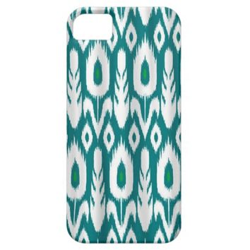 Modern Peacock Feather Pattern iPhone 5 Case