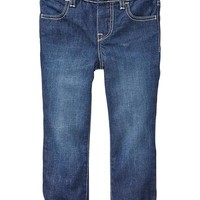 Jersey-lined straight jeans