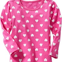 Printed Long-Sleeved Tees for Baby