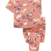Monkey-Bicycle PJ Sets for Baby