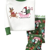 Holiday-Penguin PJ Sets for Baby