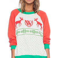 Wildfox Couture Pastel Snow Babe Sweater in White