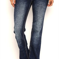 Series 31 Blue Blasted Wash Flare Jeans with Swirl Embroidery