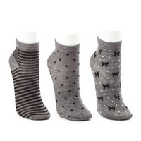 Stripes, Dots & Bow Socks - 3 Pack by Charlotte Russe