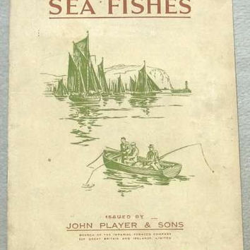 Sea Fishes Full Set of 50 Cigarette Cards in Original Album by John Player & Sons Issued in 1935 (ref: 3091)