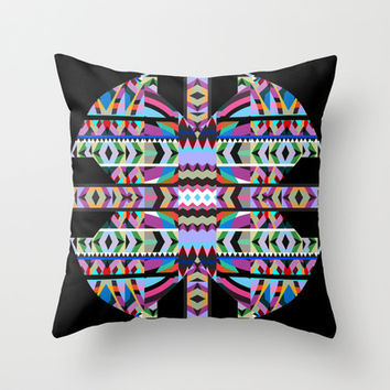 Tribal Mix Throw Pillow by Ornaart