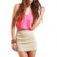 Malibu Two-fer Dress in Neon Pink