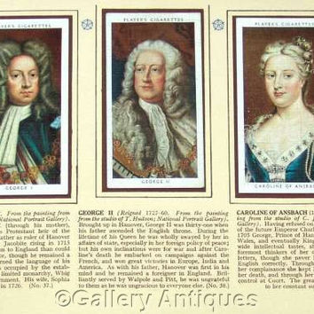 The Kings and Queens of England 1066 - 1935 Full Set 50 Cigarette Cards in Original Album by John Player & Sons Issued in 1935 (ref: 3091c)