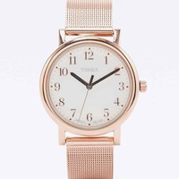 Timex Metal Mesh Watch in Rose Gold - Urban Outfitters