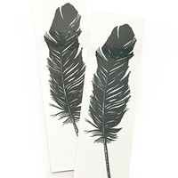 Tattly Feather Tattoo Black One