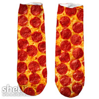 Party Pizza Short Foot Gloves - Short