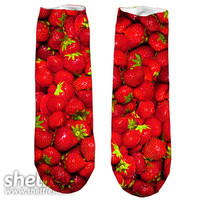 Strawberry Short Foot Gloves