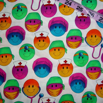 Scrubs Fabric Smiley Faces Medical Office From Connie S Quilt