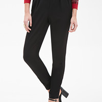High-Waisted Woven Trousers