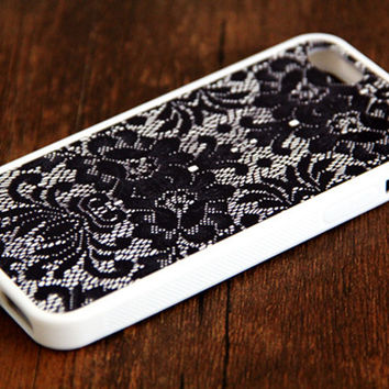 Lace Floral iPhone 6 Plus iPhone 6 iPhone 5S iPhone 5C iPhone 5 iPhone 4S/4 Rubber Case