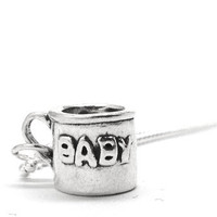 Baby Cup Necklace, Sterling Silver