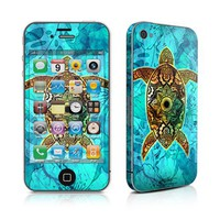 MyGift - Sacred Honu Design Protective Skin Decal Sticker compatible with Apple iPhone 4 / 4S 16GB 32GB 64GB