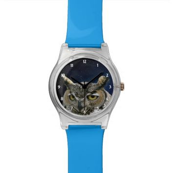 Owl Night Sky Blue May28th Watch