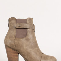 Push Stud Elastic Panel Bootie