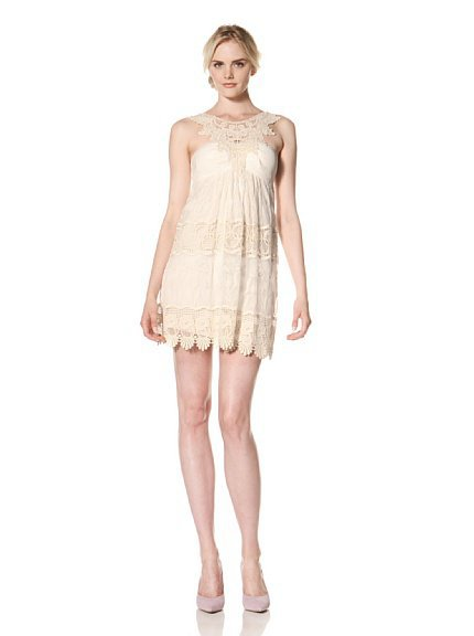 Muse Women's Embroidered Lace Dress at MYHABIT