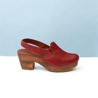 Rachel Comey Zowee Leather Platform Slingback- Oxblood