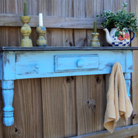 Rustic Country Farmhouse Style Headboard, Window Cornice, Towel Bar Or Coat Rack,  YOU CHOOSE COLOR