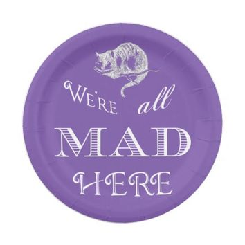 Cheshire Cat Mad Paper Plate