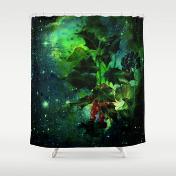 holly Shower Curtain by clemm