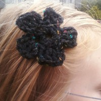 Wild Ivy Design | Crochet Flower hair clip | Online Store Powered by Storenvy