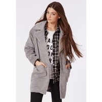 Missguided - Lena Cocoon Coat Grey