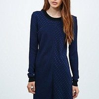 Vanessa Bruno Athé Badia Textured Dress in Navy - Urban Outfitters