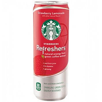 Starbucks Refreshers Strawberry Lemonade Drink 12 oz Cans - Case of 12