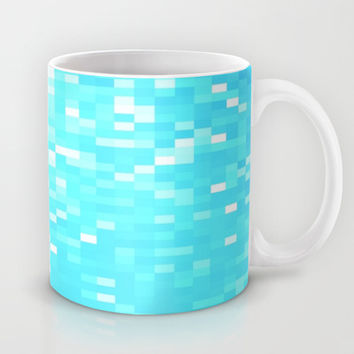 Turquoise Pixel Sparkle Mug by 2sweet4words Designs