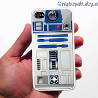 R2D2 iPhone 4 Case or iPhone 4s Case Cover white or black