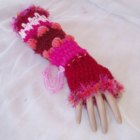 Beautiful Handmade Crochet Fingerless Mittens