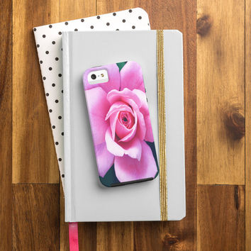 Allyson Johnson Darling Pink Rose Cell Phone Case