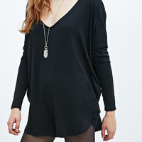 Staring at Stars Slouchy Playsuit in Black - Urban Outfitters