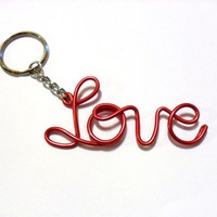 Personalized Wire Name Keychain