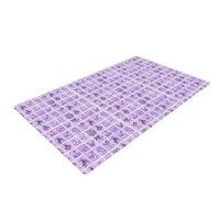 "Kess InHouse Marianna Tankelevich ""Cute Birds Purple"" Pink Lavender Woven Bath Mat, 24 by 36-Inch"