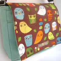 Mint Wise OWL MESSENGER Book Laptop Diaper BAG