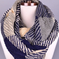 Forever Cozy Infinity Scarf - NAVY
