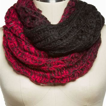 Colorblock Marled Eternity Scarf